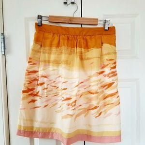 Anthro Fish Print Silk Skirt by We Heart Vera